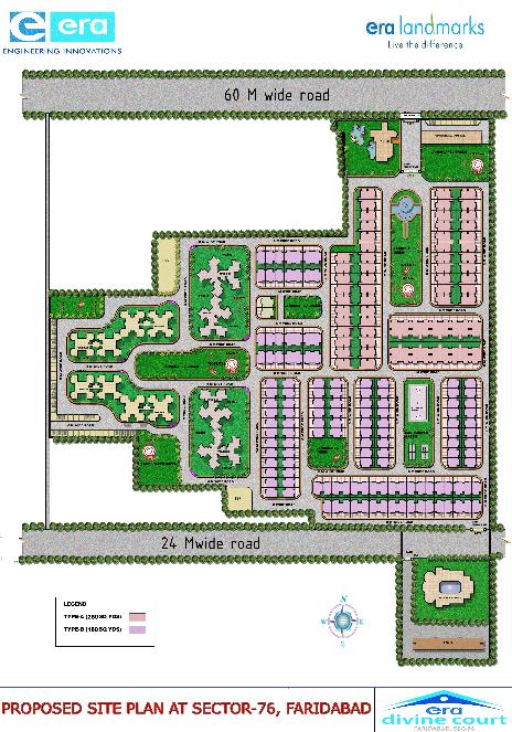 Era Divine Court Faridabad Site Plan Site Plan Era Divine Floors